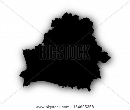 Map Of Belarus With Shadow