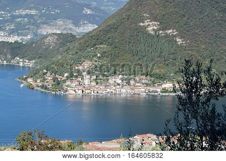 Lake Iseo and a glimpse of Montisola - Brescia - Lombardy - Italy