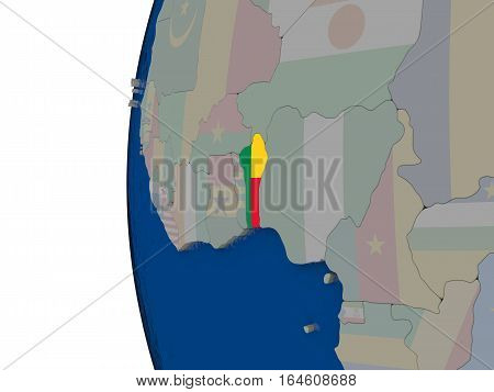 Benin With National Flag