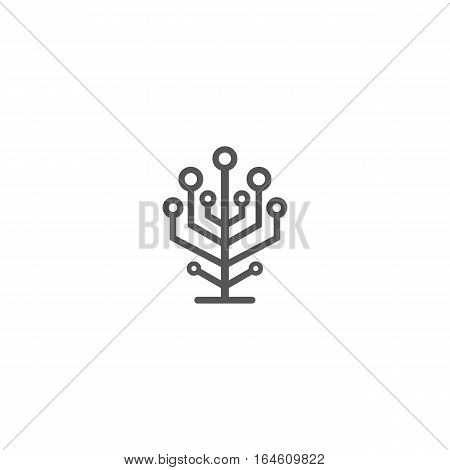 Network tree icon isolated on a white backgorund.