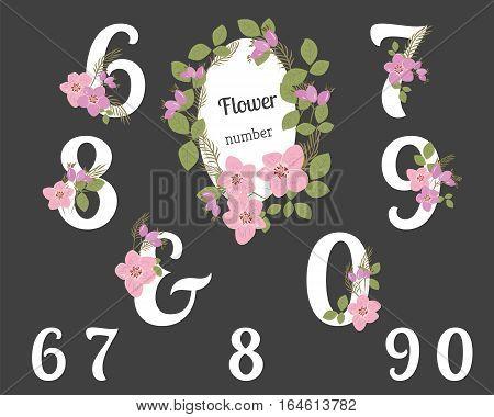 Floral Rosehip retro vintage background, vector illustration