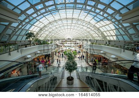 Istanbul, Turkey, TURKEY - July 16, 2015: Istinye Park shopping mall on November 4, 2010 in Istanbul, Turkey. Istinye Park has a gross area of 242,000 m2.