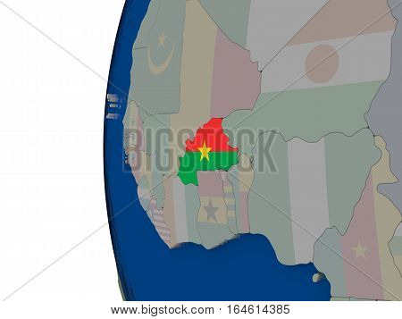 Burkina Faso With National Flag