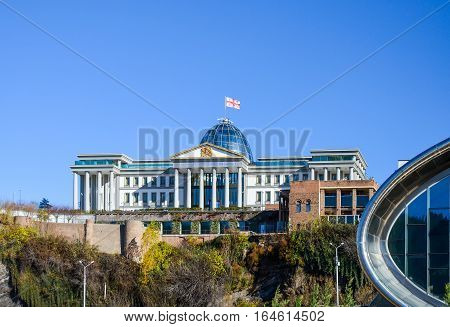 In The Center Of Tbilisi Is The Residence Of The President