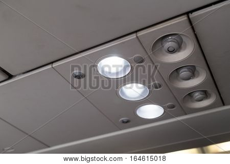 Aircraft Cabin Reading Light And Air-con Blower
