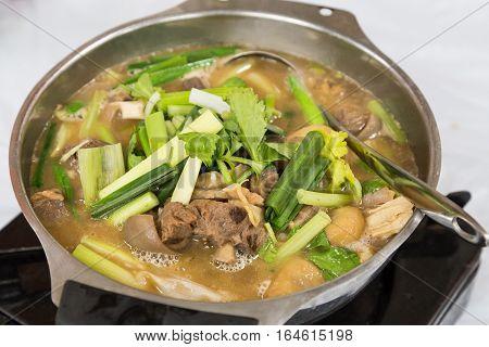 Hot Pot Lamb Stew Popular During Winter Hong Kong