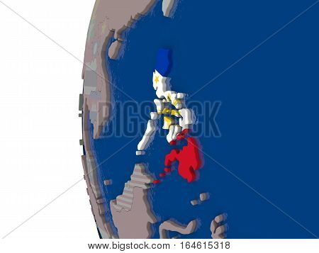 Philippines With National Flag