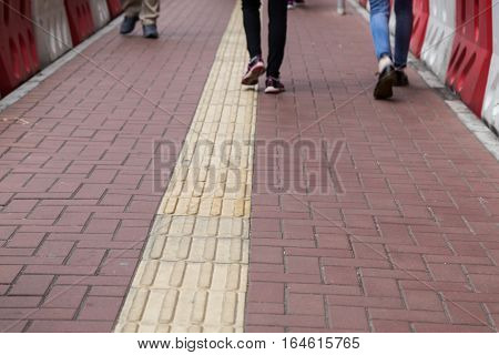 Outdoor Tactile Paving Foot Path For The Blind Hong Kong