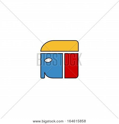 Colorful pharaoh head vector illustration isolated on a white background.