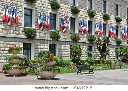 Duclair France - june 22 2016 : the city hall