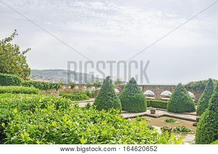 Balchik, Bulgaria - June 19, 2016. The Balchik Botanical Garden Of Romanian Queen Marie, Botanic Gar