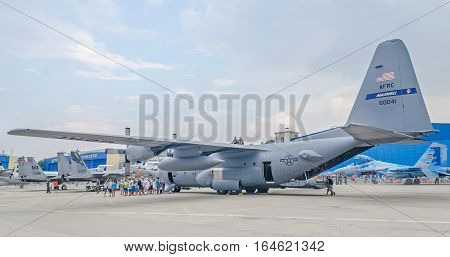 Bucharest, Romania - July 30, 2016. Us Army Airplane Named Maxwell Open For Visitators.