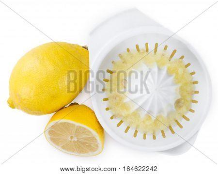 Lemon Juice Isolated On White
