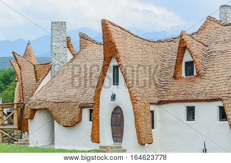 Porumbacu De Sus, Romania - August 10, 2016: Clay Castle, The Valley Of The Fairies (castelul De Lut