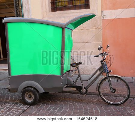 Vehicle With Pedals Like A Bicycle Of A Express Courier For Deli