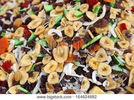 Dried Fruit With Banana Coconut And Other Tropical Fruits