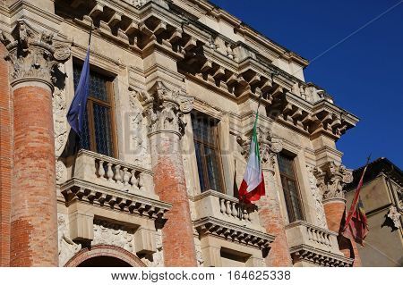 City Hall In An Old Palace In The Italian City