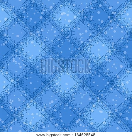 Seamless Abstract Background, Pattern of Colorful Figures and Elements