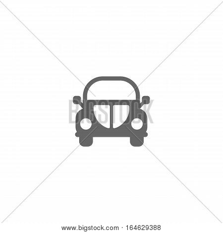 Simple automobile vector icon isolated on white background.