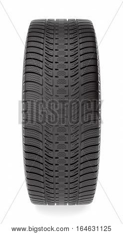 Winter tire isolated on the white background, 3d illustration