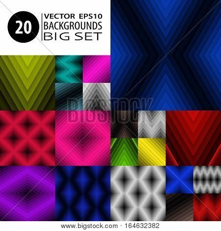 Backgrounds Set Abstract Textures Collection Graphic Bundle 1