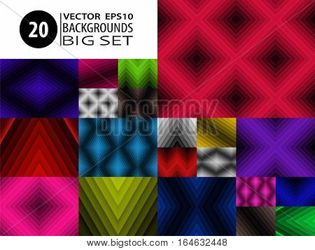 Backgrounds Set Abstract Textures Collection Graphic Bundle 2
