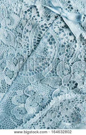 Blue silk lace closeup as a background