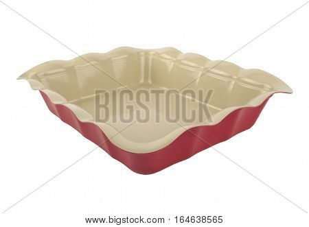 Form Teflon coated baking dish on a white background