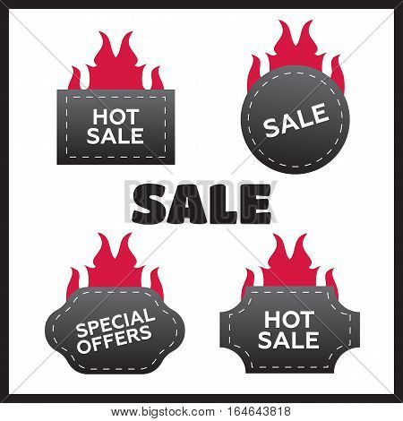 Hot price and sale deal and offer special tag or badge