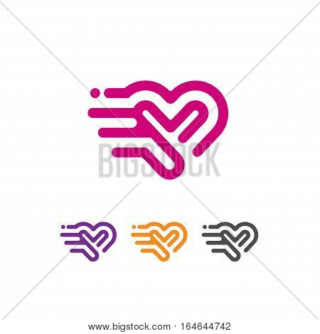 Heart icon vector logo. Heart logo, heart shape. love logo concept. Heart logo.