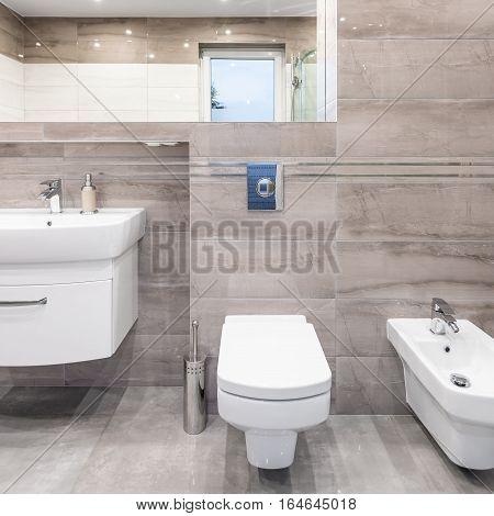Villa Bathroom In Beige