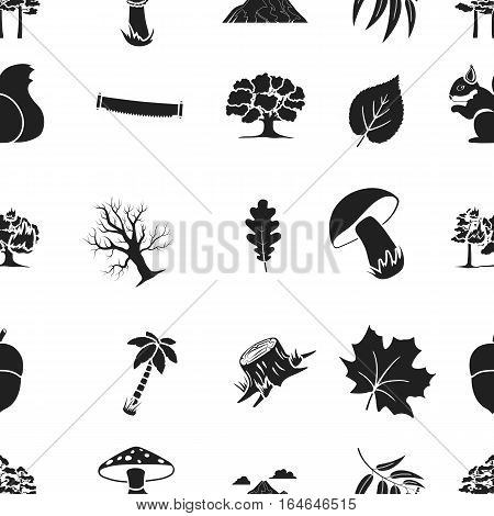 Forest pattern icons in black style. Big collection of forest vector symbol stock