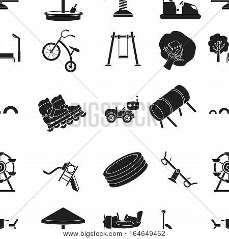 Play garden pattern icons in black style. Big collection of play garden vector symbol stock