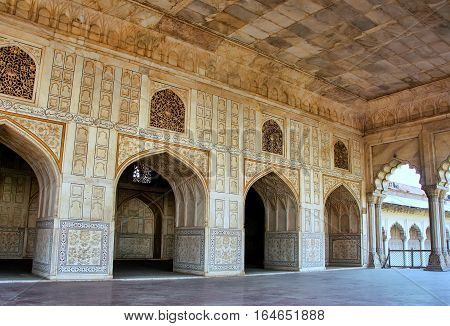 Agra, India - January 29: Diwan-i- Khas (hall Of Private Audience) In Agra Fort On January 29, 2011