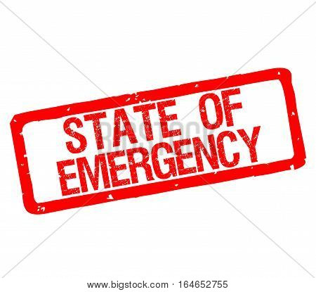 Rubber stamp with text state of emergency