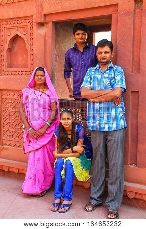 Agra, India - November 7: Unidentified People Visit Jahangiri Mahal In Agra Fort On November 7, 2014