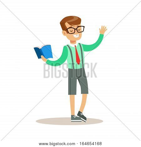 Boy Actor, Creative Child Practicing Arts In Art Class, Kids And Creativity Themed Illustration. Flat Cartoon Vector Character Demonstrating Creative Skills And Talents.