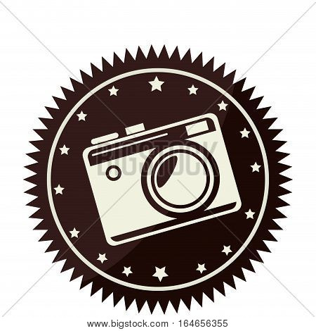 camera photographic retro style vector illustration design