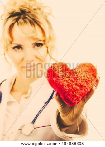 Female Doctor With Heart.