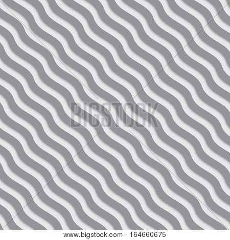 Modern background. Gray and white wavy lines meshed pattern.