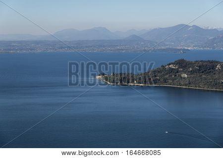 Punta San Vigilio from Rocca del Garda - Garda lake - Italy