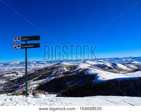 Peak Of Sundance Ski Resort