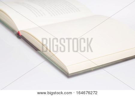 Book empty page only front is in focus
