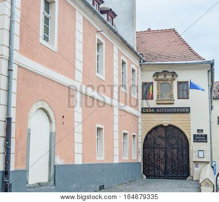 Sibiu, Romania - August 10, 2016: The House Altemberger (casa Altemberger).