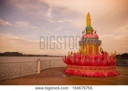 Thailand Isan Nong Khai Loy Krathong