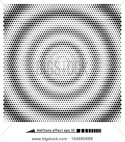 Vector. Halftone Pattern Effect. No Gradient. Spiral