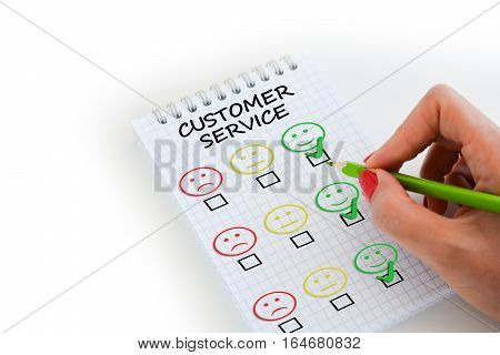 Customer satisfaction or evaluation of business performance