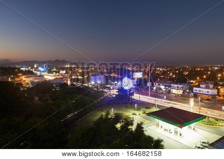Night Lights In Managua City