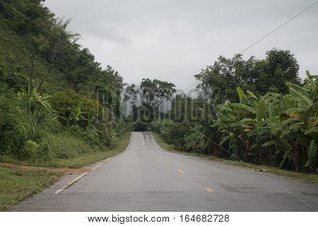 Thailand Isan Chiang Khan Overland Road