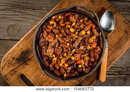 Traditional Mexican Dish - Chilli Con Carne